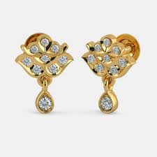gold earings buy 150 22k yellow gold earring designs online in india 2017