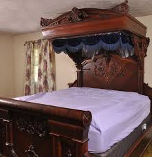 King Size Canopy Bed Frame Antique Empire Mahogany Veneer King Size Canopy Bed Ebth