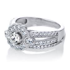 Cubic Zirconia Wedding Rings by Art Deco Cubic Zirconia Wedding Ring Set