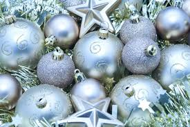 amazing photo of silver festive decorations pict and gold