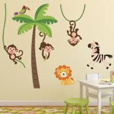 stickers savane chambre bébé stickers animaux afrique stickers muraux girafe ambiance