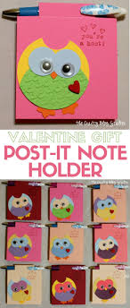 diy valentine s gifts for friends how to make a valentine gift post it note holder the crafty blog