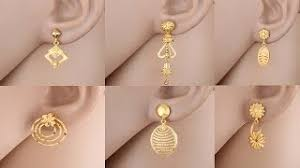 gold earring design gold jhumka traditional style designs batyoutube