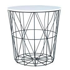 Wire Side Table Side Table Wire Side Table White Black Geometric A Striking And