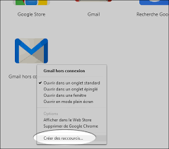 raccourci bureau gmail chrome web store ajouter un raccourci vers une application
