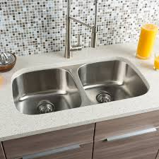 Kitchen Sinks With Backsplash Sinks Mosaic Glass Tile Backsplash Hahn Classic Chef 32 25 X 18