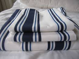 Nautical Bedspreads Nautical Bedding Coastal Cottage White Navy Stripe Queen