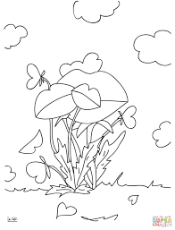 a tree with hearts coloring page free printable coloring pages