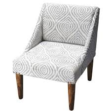 Blue And White Accent Chair Mid Century Modern White Washed And Blue Swoop Back Accent Chair
