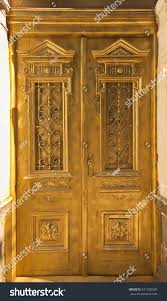 old painted wood doors texture grunge stock photo 441250429