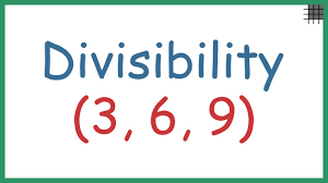 divisibility rules 3 6 and 9 old video youtube