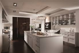 ideas chandelier with tray ceilings and large kitchen island also