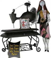 sally figure with sewing machine from our nightmare before