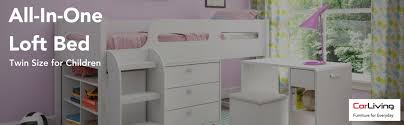 corliving bmg 210 b madison 5pc all in one single twin loft bed in