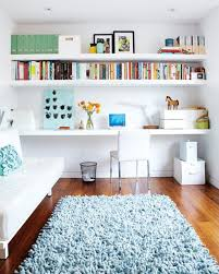 home office design books furniture white floating shelf also can apply in smart home office