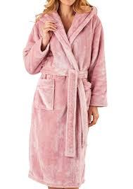 robe de chambre polaire slenderella femmes doux épais peignoir robe de chambre