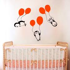 compare prices on boys wall murals online shopping buy low price vinyl sticker 3 pieces penguins balloons nursery children s room wall sticker baby girl boy art design