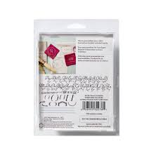martha stewart crafts italic flourish alphabet stencil set 48pc