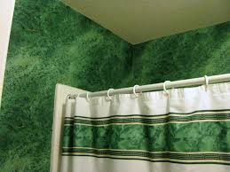 Hunter Green Window Curtains by The Cannary Family Kids Bathroom Update