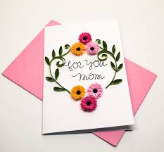 martini birthday card mothers day greeting card floral card for mom for you mom