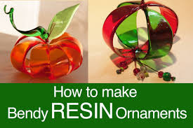 bendy resin ornaments by windows