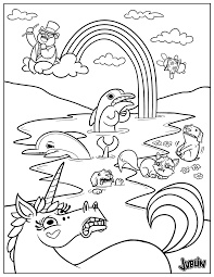 super punch oil spill coloring page