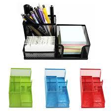 Dstockage Papeterie Maille Creux En Métal Bureau Stylo Organisateur De Stockage Box