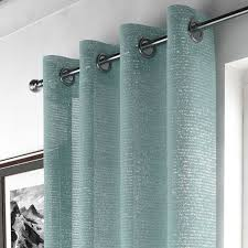 Duck Egg And Gold Curtains Voile Curtains Lined Voiles Buy Online Tonys Textiles