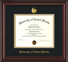 of central florida diploma frame m lacquer seal black