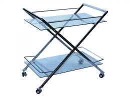 martini chrome white glass bar cart by casabianca home cb