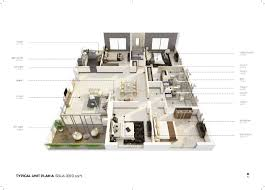 typical floor plan salarpuria group