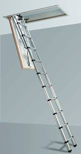 folding ladder to the attic is the best choice for space saving