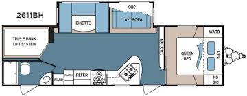 triple bunk travel trailer floor plans new 2017 dutchmen rv denali lite 2611bh travel trailer at general rv