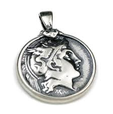 silver coin necklace pendants images Goddess athena lion didrachm ancient greek coin sterling jpg