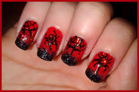 halloween easy nail art spider web black widow spider design youtube