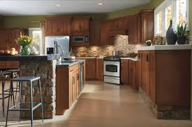 inspiring birch kitchen cabinets for interior renovation plan with