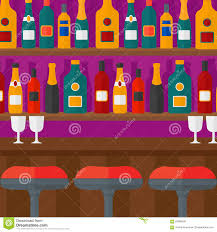bar counter background of bar counter stock vector image 65985881