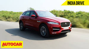 jaguar f pace jaguar f pace india drive autocar india youtube