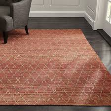 Rectangle Rug Tochi Coral Orange Rug Crate And Barrel