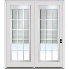 Patio French Doors With Built In Blinds by Right Hand Inswing Patio Doors Exterior Doors The Home Depot