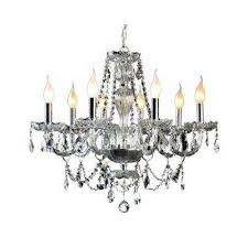 Bronze Chandelier With Crystals Dining Room Crystal Chandeliers Hanging Lights The Home Depot