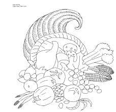 thanksgiving cornucopia coloring page inside theotix me