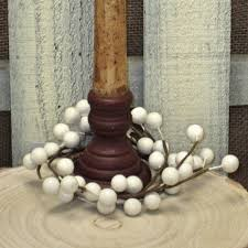 Candle Rings 2 5 Inch White Berry Candle Ring With Large Berries For Votives