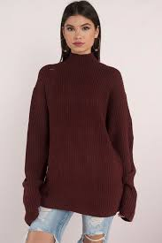 maroon sweater end black distressed sweater tobi