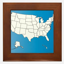 us map framed framed map of the united states map usa usa cherry framed map