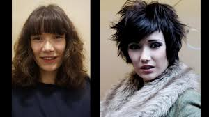 how to cutting bangs in a layered hairstyle long to short haircut makeovers tutorial on how to cut hair in
