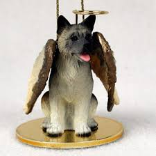 akita figurine statue ornament gray