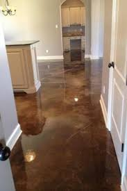 Tiling On Concrete Floor Basement by Diy Stained Concrete Basement Floors Wonder If This Will Be Good