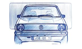 old volkswagen drawing vw struck gold for the second time with golf dyler