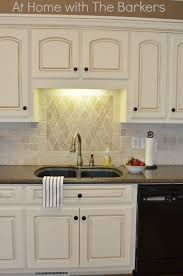 painting kitchen cabinets antique white glaze kitchen tour at home with the barkers